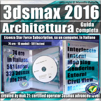 Corso 3ds max 2016 Architettura Guida Completa Subscription