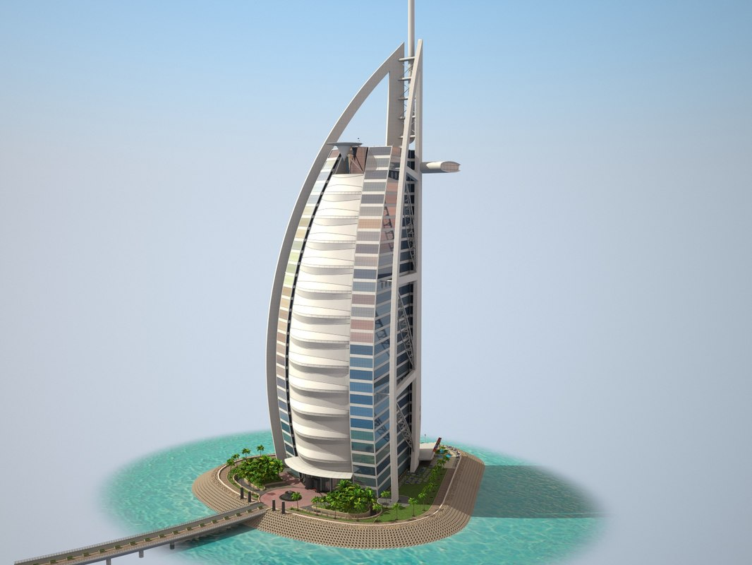 3d model burj al arab Burj al arab architecture