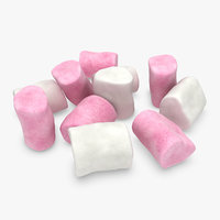 3d model marshmallow pose 1