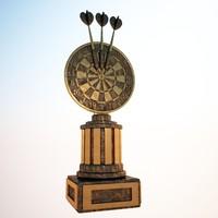 3d model darts trophy