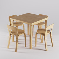 3d artek chair 65 table model