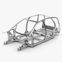 car frame 3d 3ds