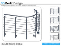 3dmd railing cable 3d model