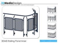 3d 3dmd railing panel inner