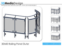 3d model 3dmd railing panel outer