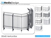 3ds max 3dmd railing vertical bar