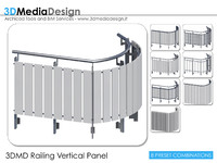 3ds max 3dmd railing vertical element