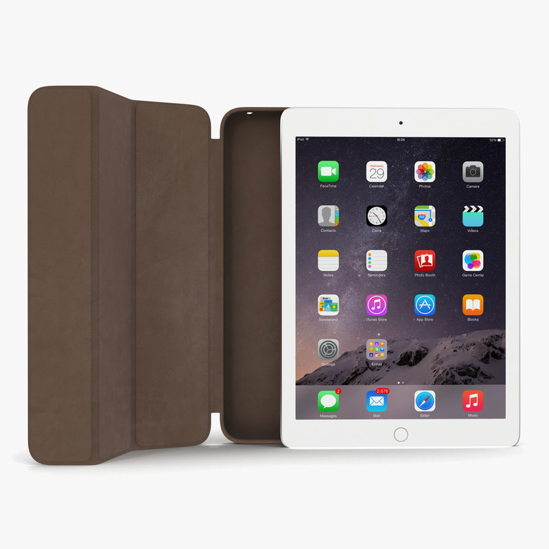 iPad Air 2 Silver and Smart Case 3d model 00.jpg