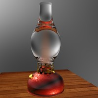 3d model chinese oil lamp