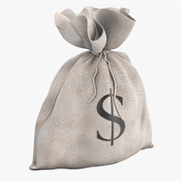 3d model of money bag