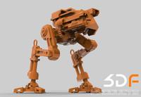 rhino printable robot printed