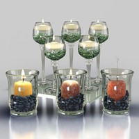3d decor candles