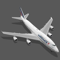 boeing 747-400 air france obj