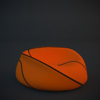deflated basketball 3d max