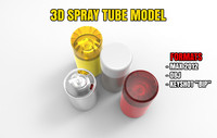 3d model spray tube