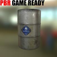 pbr barrels drum 3d model