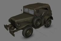 obj willys army jeep