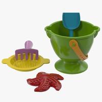 sand toys 3d c4d