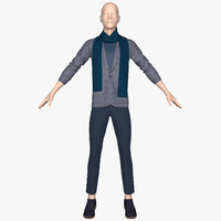 3d mannequin jacket pants model