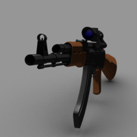3d ak-47 acog scope model