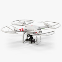 dji phantom 2 quadcopter 3d max