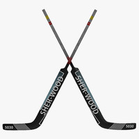 3d goalie hockey stick model