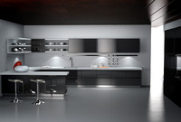 3d modern kitchen