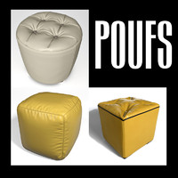 3d model of pouf interiors