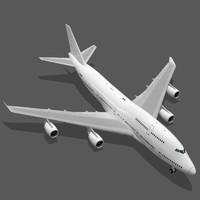 boeing 747-400 3d c4d