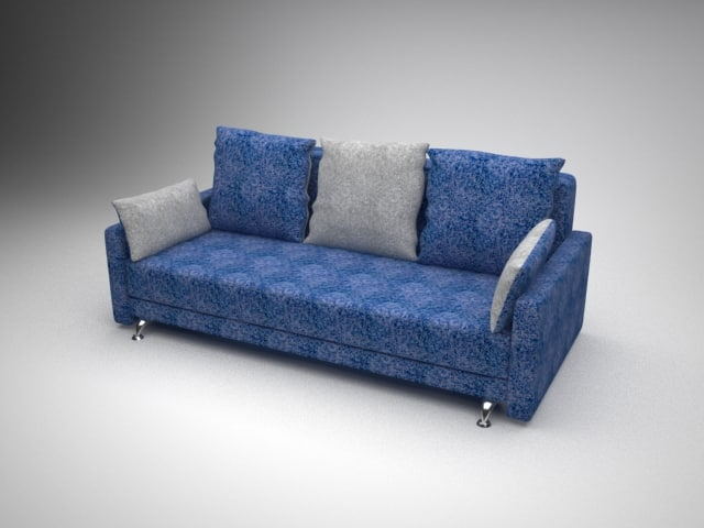 Plush sofa bed 3d model for Sofa bed 3d model