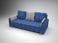 plush sofa-bed 3d model
