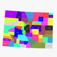 3d model of colorado counties