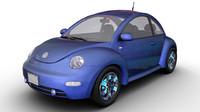 2002 volkswagen beetle 3d model