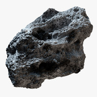 c4d asteroid modeled stone
