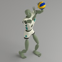 3d abstract humanoid ballerkin sport