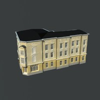 free european building 3d model