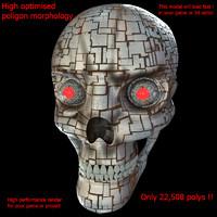 3d metallic skull