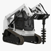 3dsmax compact tracked loader auger