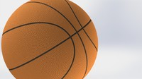 basketball ball basket 3d wrl