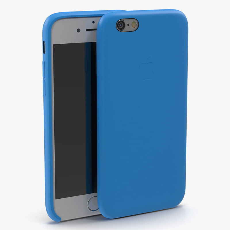 iPhone 6 Silver and Case 3d models 00.jpg