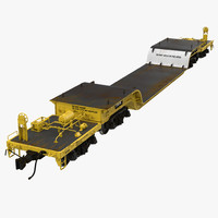 Heavy Duty Depressed Centre Flat Car Yellow