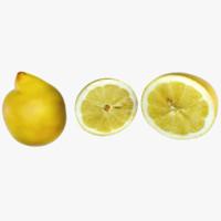 lemon 3d dxf