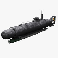 midget submarine hecht 3d model