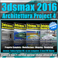 3ds max 2016 Architettura Project 4_ 3 Mesi Subscription