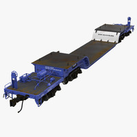 3d model heavy duty depressed centre