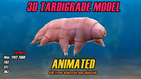 Tardigrade Model 3D Animated Water Bear