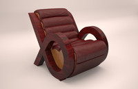 armchair with leather trim