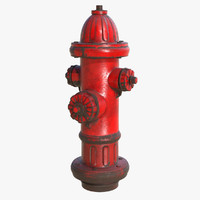 3d model of hydrant pbr modo