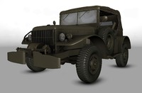 3d model willys army jeep