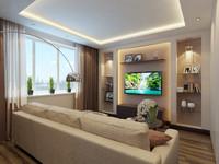 3d interior apartment modern